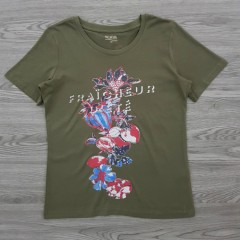 DAILY NATURAL Ladies T-Shirt (GREEN) (M - L)