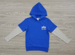 POOOPLANO Boys Hoodi  (BLUE) (116 to 164 CM)