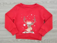 MERRY CHRISTMAS Boys Long Sleeved Shirt (RED) (92 to 52 CM)