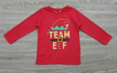 E-VIE ANGEL Girls Long Sleeved Shirt (RED) (1 to 5 years)