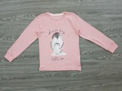 NIGHT NIGHT Girls T-Shirt (LIGHT PINK) (2 to 10 Years)