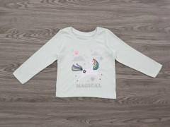 ALL BASICS Girls T-Shirt (LIGHT GREEN) (2 to 8 Years)