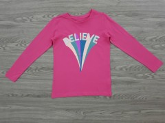 ALL BASICS Girls T-Shirt (PINK) (10 to 16 Years)