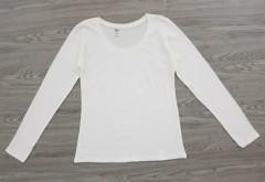 DIP Ladies Long Sleeved Shirt (WHITE) (XS - S - M - L - XL - XXL)