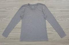 DIP Ladies Long Sleeved Shirt (DARK GRAY) (XS - S - M - L - XL - XXL)