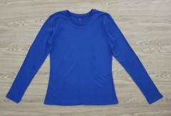 DIP Ladies Long Sleeved Shirt (BLUE) (XS - S - M - L - XL - XXL)