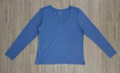 DIP Ladies Long Sleeved Shirt (BLUE) (XL - XXL)