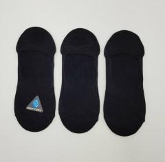 FITTER FIT FOR ME Mens Non Slip Gripper Ankle Socks 3 Pcs Pack (BLACK) (ONE SIZE)