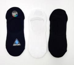 FITTER Mens Foot Liners Socks 3 Pcs Pack (NAVY- WHITE - BLACK) (FREE SIZE)