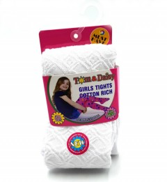 TOM And DAISY Girls Tights (WHITE) (2 to 12 YEARS)