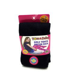 TOM And DAISY Girls Tights (BLACK) (2 to 12 YEARS)