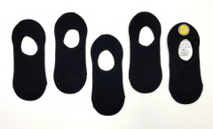 LARK Boys And Girls  Foot Liners Socks 5Pcs Pack (BLACK) (3 to 14 Years)