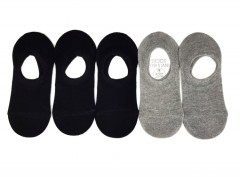 LARK Boys And Girls  Foot Liners Socks 5Pcs Pack (BLACK - GRAY) (3 to 14 Years)