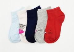 BAROTTI Girls Socks 5 Pcs Pack (RANDOM COLOUR) (3 to 5 Years)