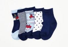BAROTTI Boys Socks 5 Pack (RANDOM COLOR) (0 to 12 Month)