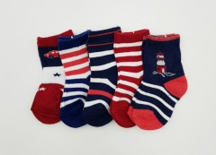 BAROTTI Boys Socks 5 Pcs Pack (AS PHOTO) (0 to 6 Months)