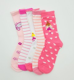 BAROTTI Girls Socks 5 Pcs Pack (AS PHOTO) (7 to 9 Years)