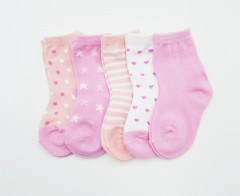 BAROTTI Girls Socks 5 Pack (RANDOM COLOR) (6 to 12 Month)