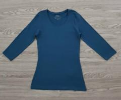JANINA Ladies Long Sleeved Shirt (BLUE) (34 to  48)