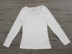 JANINA Ladies Long Sleev Shirt (WHITE) (34 to  48)