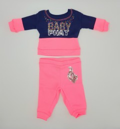 BABY PHAT  Girls 2 Pcs Pyjama Set (NAVY - PINK) (NewBorn to 12 Years)