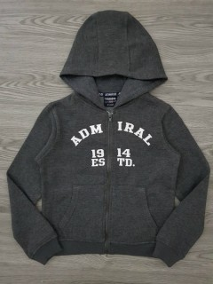 ADMIRAL Boys Hoody (DARK GRAY) (6 to 7 Years)