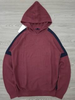 KIABI Mens Sweater Hoodie (MAROON) (S - M - L - XL - XXL)