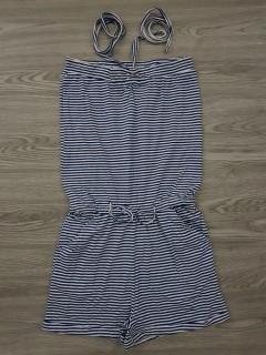 YOUNG FASHION Ladies Short Dress (NAVY-WHITE)(XXS - XS - S - M)