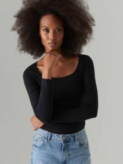 MOHITO CARES Ladies Long Sleeved Shirt (BLACK) (XS)