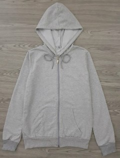 LCN ANGEL Ladies Turkey Hoodie Zipper (GRAY) (S - M - L - XL)