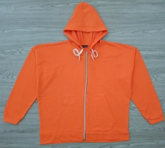 PIORA Ladies Turkey Hoodie Zipper (ORANGE) (S - M - L - XL)