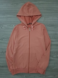 LCN ANGEL Ladies Turkey SweatShirt Front Zip Winter Hoodie (PINK) (S - M - L - XL)