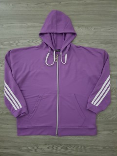 PIORA Ladies Turkey Hoodie Zipper (PURPLE) (S - M - L - XL)