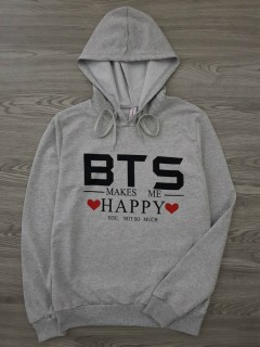 BTS COLLECTION Ladies Sweat Shirt Printed Hoodie (GRAY) (S - M - L - XL)