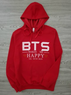 BTS COLLECTION Ladies Turkey SweatShirt Printed Hoodie (RED) (S - M - L - XL)