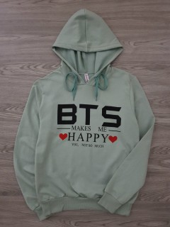 BTS COLLECTION Ladies Turkey SweatShirt Printed Hoodie (GREEN) (S - M - L - XL)
