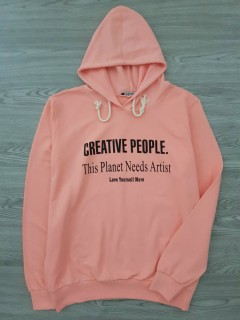 A.CASUALS Ladies Turkey Sweatshirt Printed Hoodie (PINK) (S - M - L - XL)