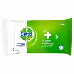DETTOL Wet Wipes Original 10 wipes  (Exp: 05.2022) (K8)