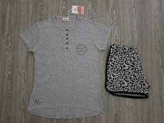 ANTONIO BASILE Ladies 2Pcs Shorty Nightwear Set (GRAY) (S - M - L - XL)