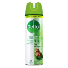 DETTOL Disinfectant Spray Sanitizer for Germ Protection on Hard & Soft Surfaces,Original Pine 225ml (Exp: 08.2022) (K8) l