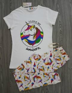 ANNABELLE Ladis 2 Pcs Pyjama Set (WHITE) (S - M - L - XL)