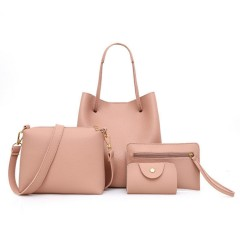 Ladies 4 Pcs Bags (PINK) (Os)