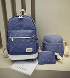 Ladies 3 Pcs Back Pack Set (LIGHT BLUE) (OS)