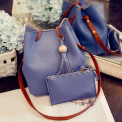 Ladies 2 Pcs Hand Bags Set (BLUE) (Os)