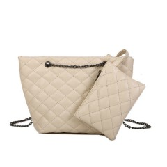 Ladies 2 Pcs Bags (CREAM) (Os)