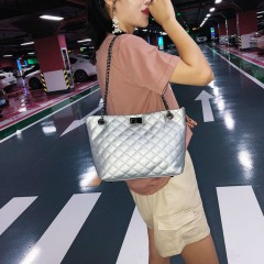 Ladies 2 Pcs Bags (SILVER) (Os)