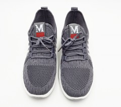 M FASHION Mens Shoes (GRAY) (40 to 45)