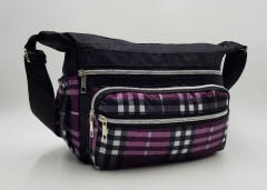 Ladies Bags (BLACK - PURPLE) (Os)