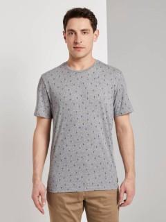TOM TAILOR Mens T-Shirt (GRAY) (S - M - L - XL - 2XL - 3XL)