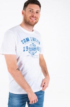 TOM TAILOR Mens T-Shirt (WHITE) (S - M - L - XL - XXL)
